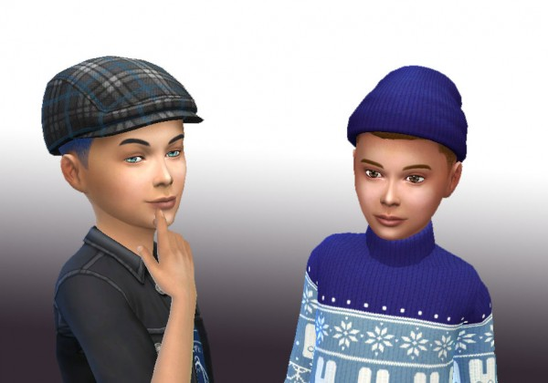 Mystufforigin: Curly Parted for Boys for Sims 4