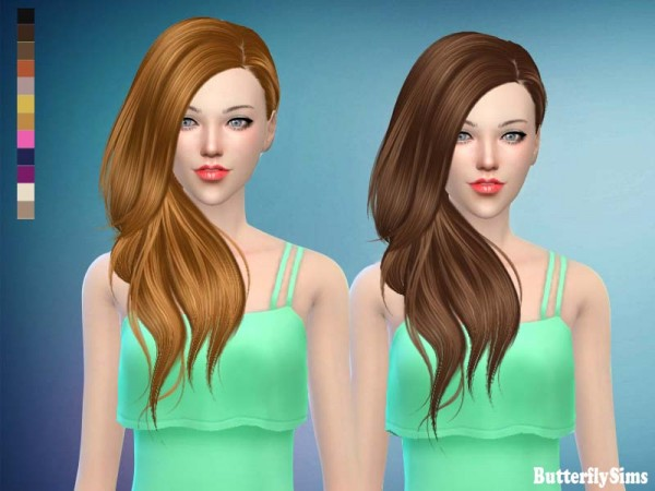Butterflysims: Hair 188 No hat for Sims 4