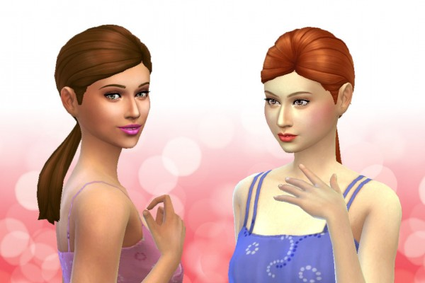 Mystufforigin: Ponytail Low Conversion for Sims 4
