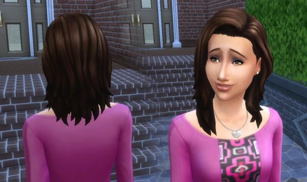 Mystufforigin: Medium Wavy converted hair for Sims 4