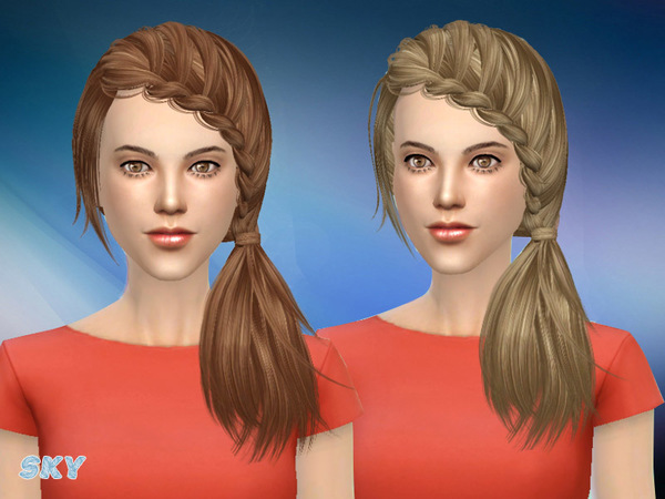 The Sims Resource: Hair 101 by Skysims for Sims 4