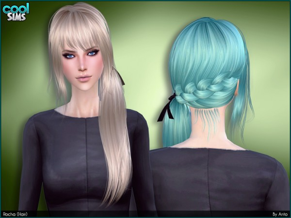 The Sims Resource: Rocha Hair by Anto for Sims 4