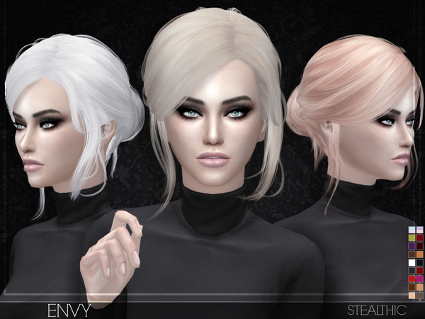 Stealthic: Envy hair for Sims 4