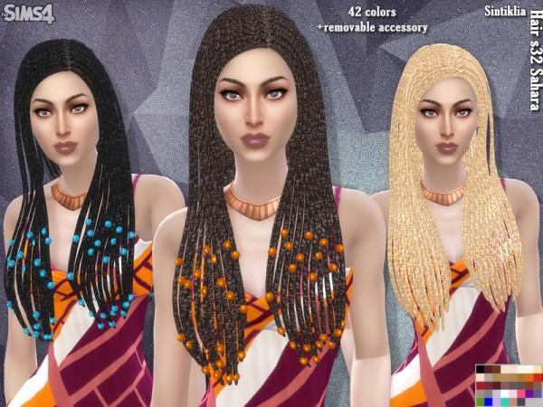 Sintiklia Sims: Hair`s 32 Sahara for Sims 4