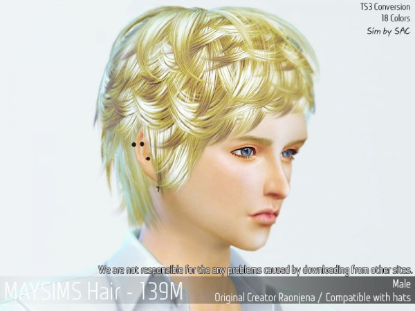 MAY Sims: May 139M hair retextured for Sims 4