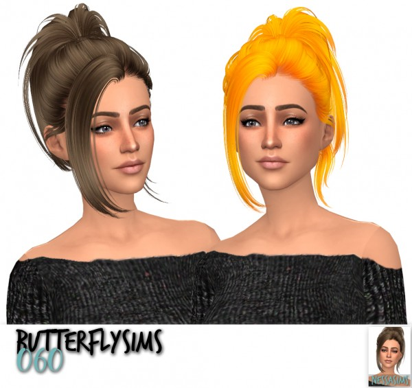 Nessa sims: Butterflysims 060,125 and 171 hair retextured for Sims 4