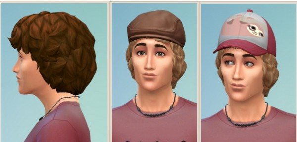 Birksches sims blog: Curly Hair for him for Sims 4