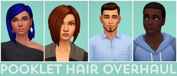 Swirl Goodies: Pooklet hair overhaul for Sims 4