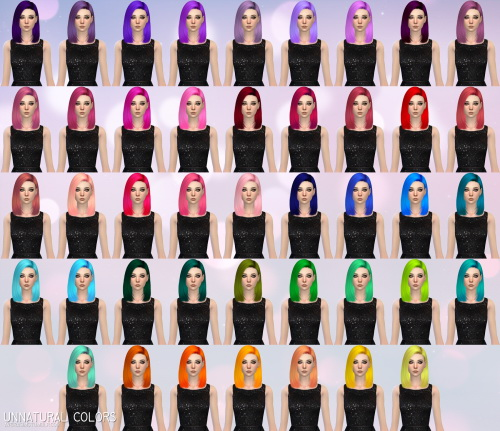 Aveira Sims 4: Nightcrawler`s Crow hair retextured for Sims 4