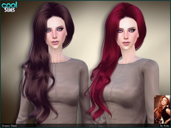 The Sims Resource: Dynasty hair by Anto for Sims 4