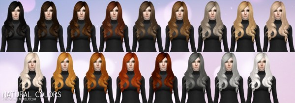 Aveira Sims 4: Anto`s Roses hair retextured for Sims 4