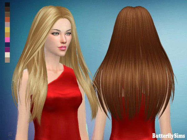 Butterflysims: Hairstyle 184 for Sims 4