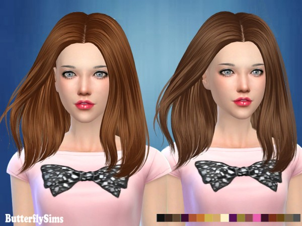 Butterflysims: Hair 185 No hat for Sims 4