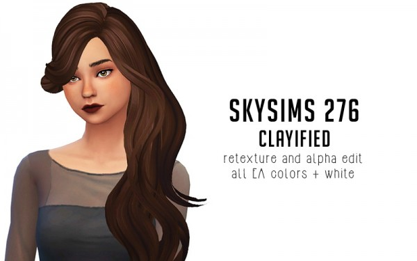 Liahxsimblr: Skysims 277 hair retextured for Sims 4