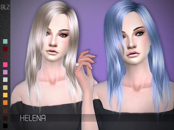 The Sims Resource: BLZ   Helena hair for Sims 4