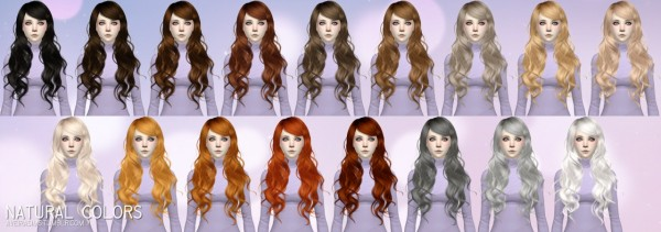 Aveira Sims 4: Newsea`s Sparklers hair retextured for Sims 4