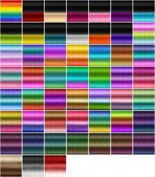 Jenni Sims: Textures for retextured hair sims 4 ( 251 colors) for Sims 4