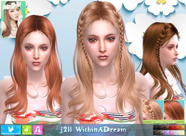NewSea: J211 Within a dream hair for Sims 4
