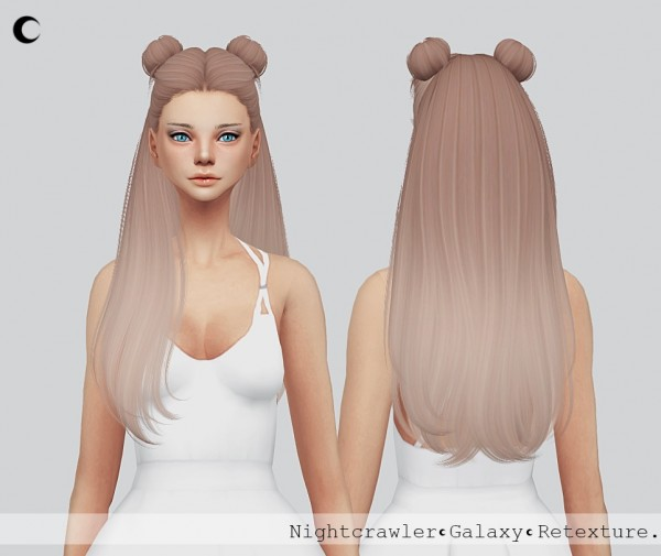 Kalewa a: Galaxy Hair retextured for Sims 4