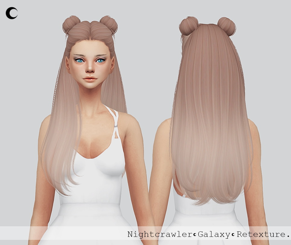 Sims 4 Hairs Kalewa A Galaxy Hair Retextured