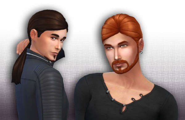 Mystufforigin: Ponytail Low Conversion for Men for Sims 4
