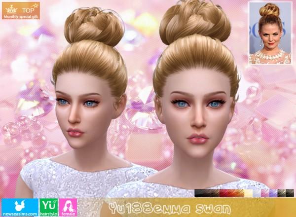 NewSea: YU188 Emma Swan hair for Sims 4