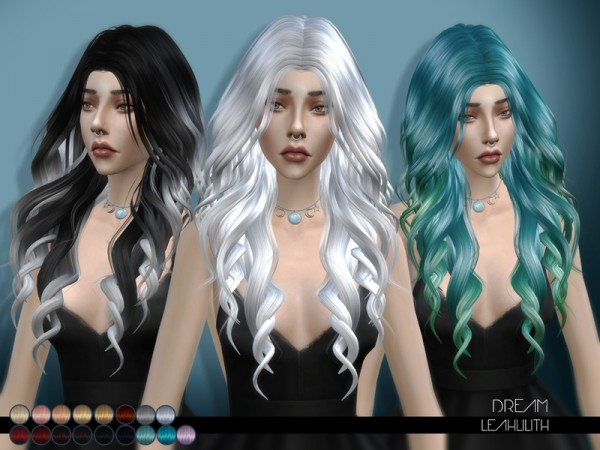 The Sims Resource: Dream hair by LeahLilith for Sims 4