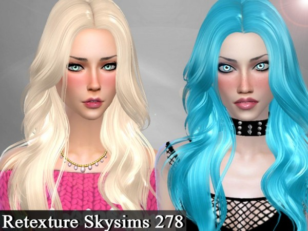 The Sims Resource: Skysims 278 hair retextured by Genius666 for Sims 4