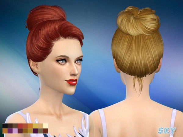 The Sims Resource: Hair 144 by Skysims for Sims 4