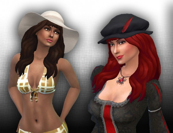 Mystufforigin: Calm wind hair for Sims 4