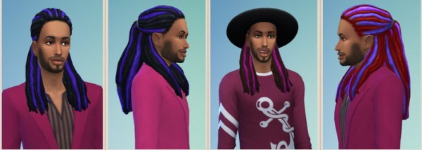 Birksches sims blog: Popcorn Dreads for him for Sims 4