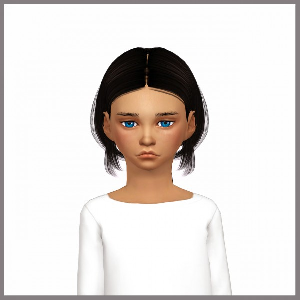 Dani Paradise: Chloe hair converted for kids and male for Sims 4