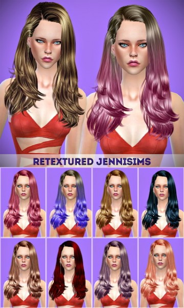 The Sims Resource: Newsea`s Gisele hair retextured for Sims 4