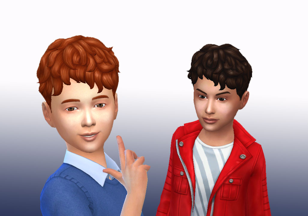 Sims 4 Hairs Mystufforigin Curls Front For Boys