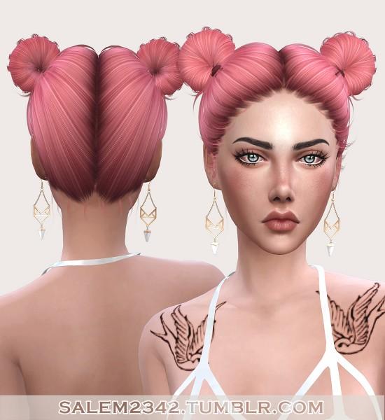 Salem2342: Sintiklia`s 31 Kanoya, 33 Andrea, 34 Dayana hair etextures for Sims 4