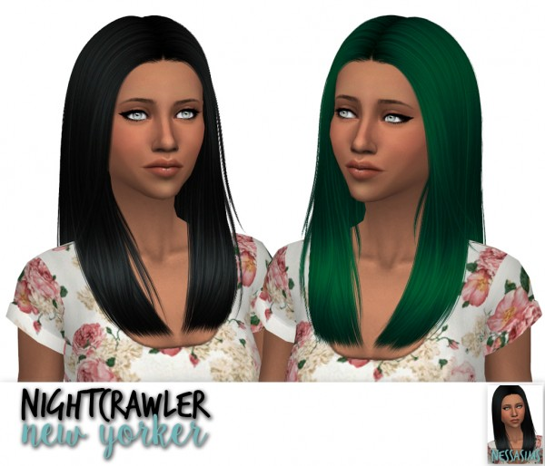 Nessa sims: Nightcrawler`s Galaxy, Milady and New Yorker hair retextured for Sims 4