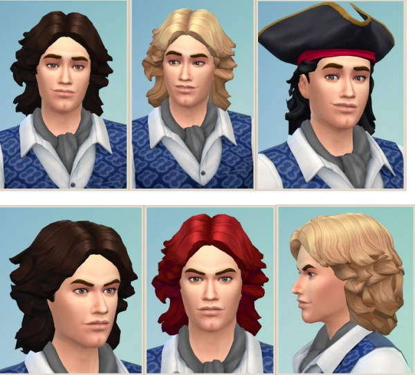 Birksches sims blog: Kylo Hair for him for Sims 4
