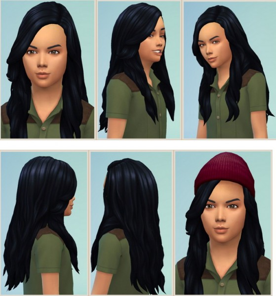 Birksches sims blog: Long soft hair for Boys for Sims 4