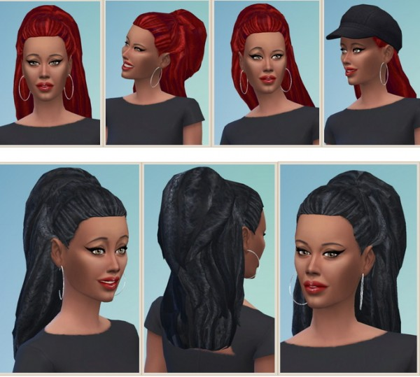 Birksches sims blog: Higher Dreads for Both for Sims 4