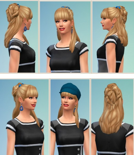 Birksches sims blog: Gardening Hair for her for Sims 4