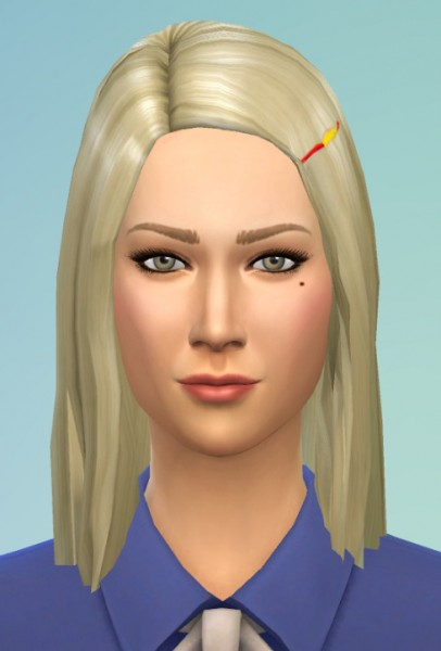 Birksches sims blog: Margot T Hair for her for Sims 4
