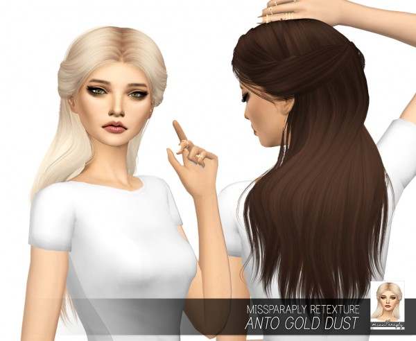 Miss Paraply: Anto`s Gold Dust hair retextured for Sims 4