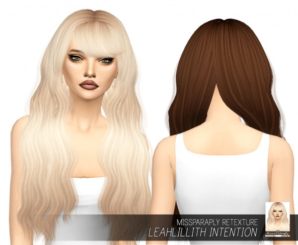Miss Paraply: Leahlillith`s Intention hair retextured for Sims 4