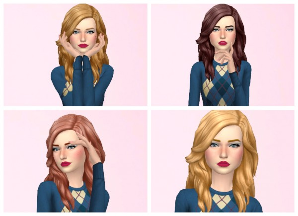 Simsworkshop: Romance hair edit by Annabellee25 for Sims 4