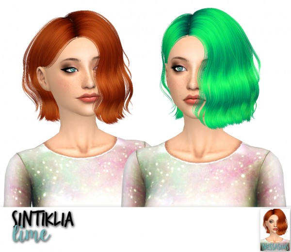 Nessa sims: Sintiklia`s Lana, Lime and Rihanna hairs retextured for Sims 4