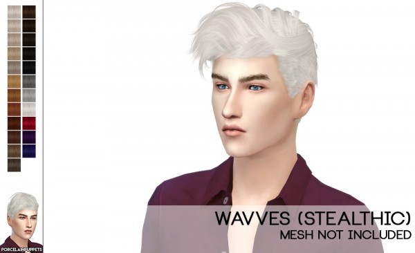 Porcelain Warehouse: ale Hair Dump: Anto`s Electric, Stealthic`s Wavves and LikeLust for Sims 4
