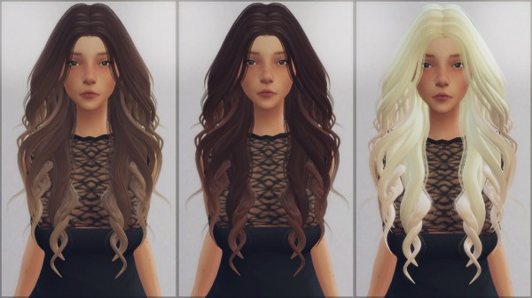 Ellie Simple: LeahLilith`s Dream hair retextured for Sims 4