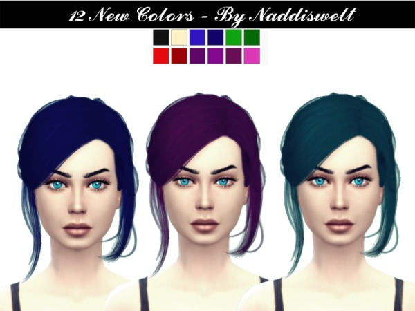 The Sims Resource: Hair V9 retextured by Naddiswelt for Sims 4
