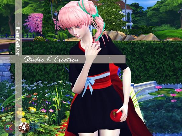 Studio K Creation: Miyu 37 animate hair for her for Sims 4