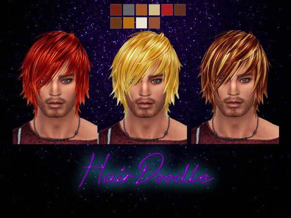 The Sims Resource: Kijiko`s Toyger Kitten hair recolored by HairDoodle for Sims 4
